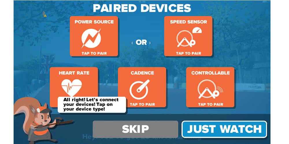 Rollentrainer App Smartphone